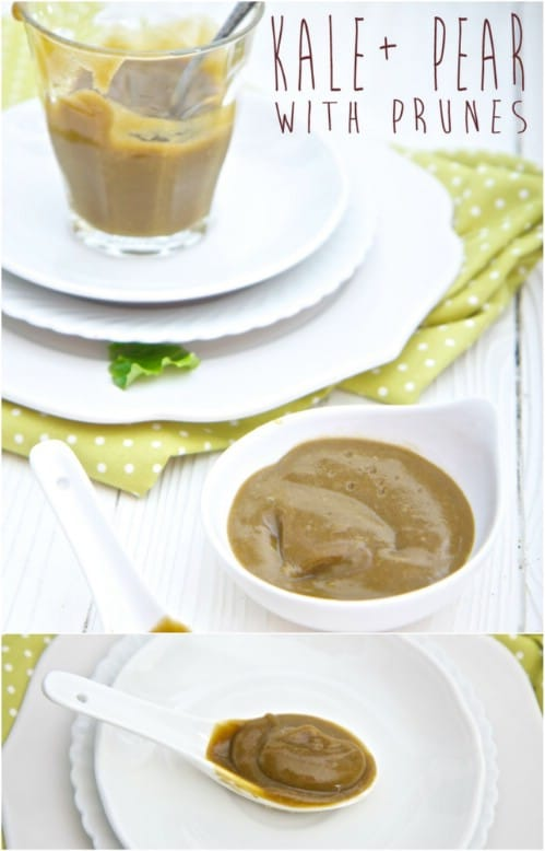 Homemade Pear And Prune Baby Food