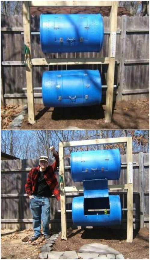 Double Decker Turnable Compost Bin