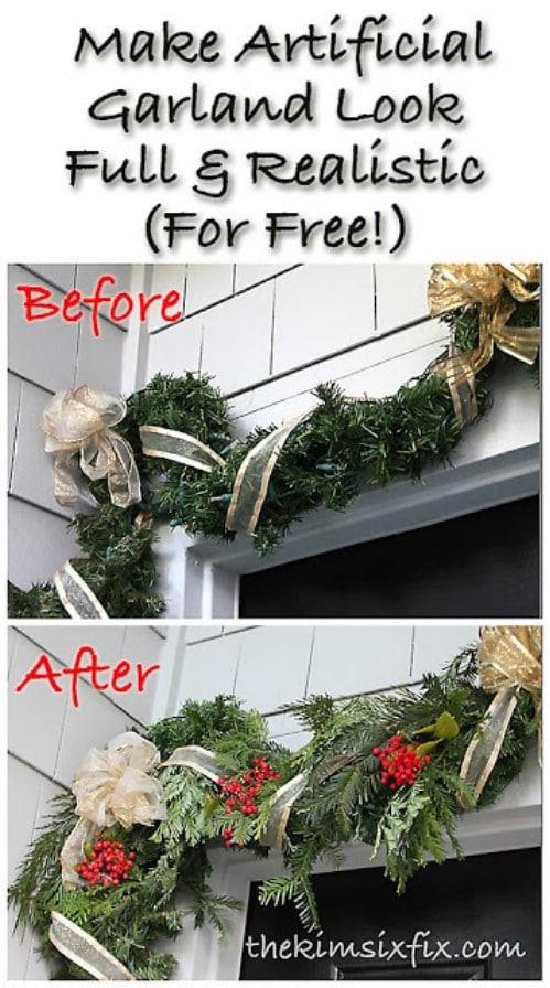 DIY Fake Garland Helper