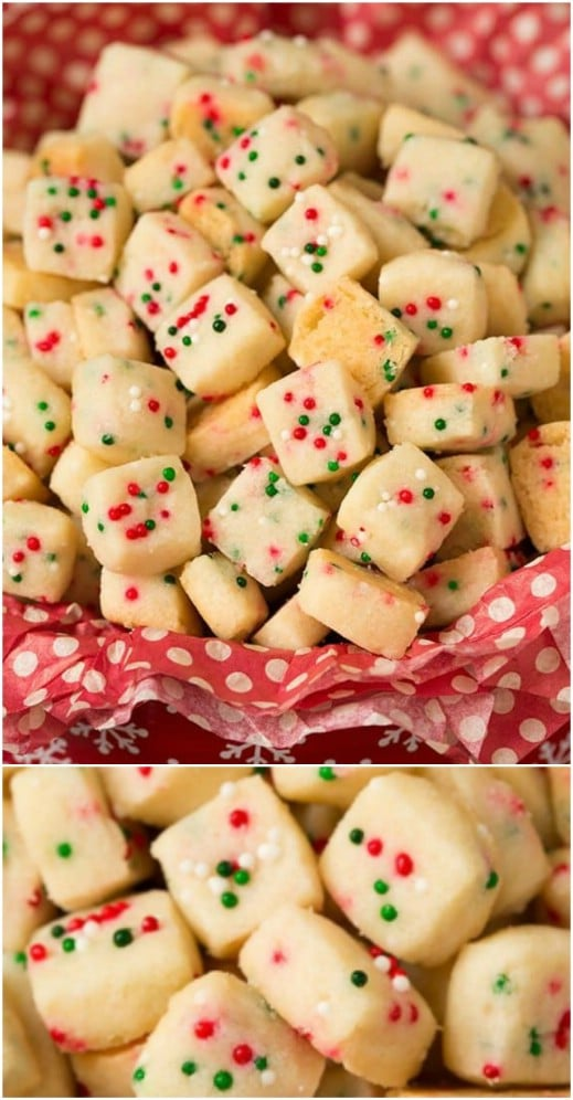 Christmas Funfetti Shortbread Bites