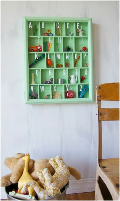 Hand Painted Alphabet Box