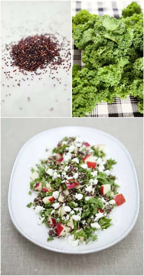 Quinoa, Kale And Apple Salad