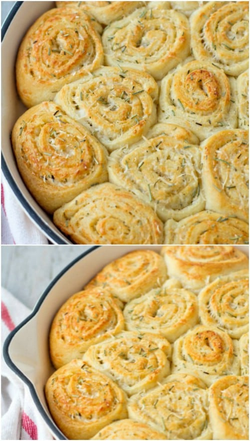 Rosemary And Parmesan Dinner Rolls