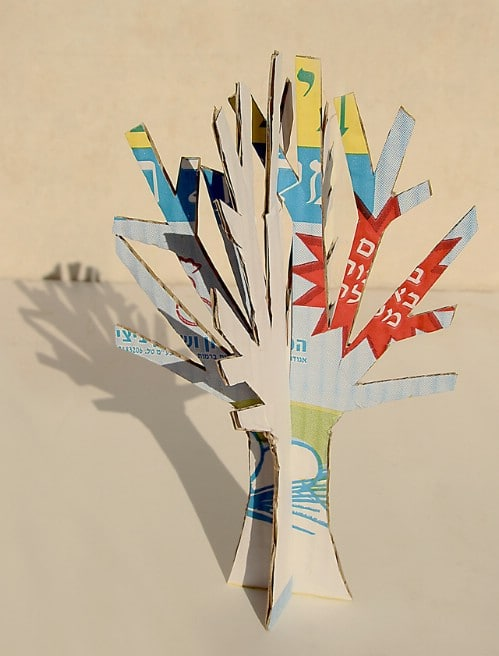 Upcycled Cardboard Winter Tree Craft