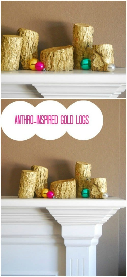 Anthropologie Inspired Golden Logs