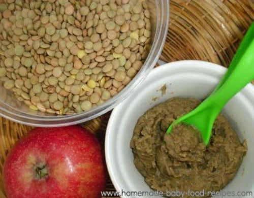 Spiced Apple And Lentil Baby Puree