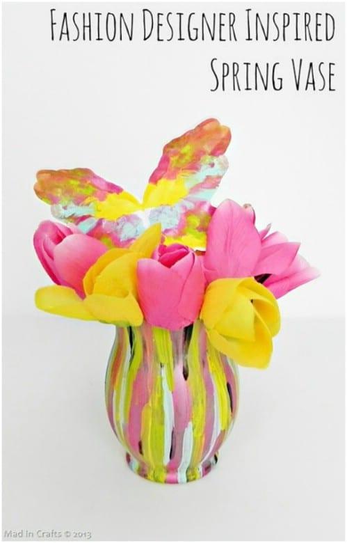 Designer Inspired Painted Vase
