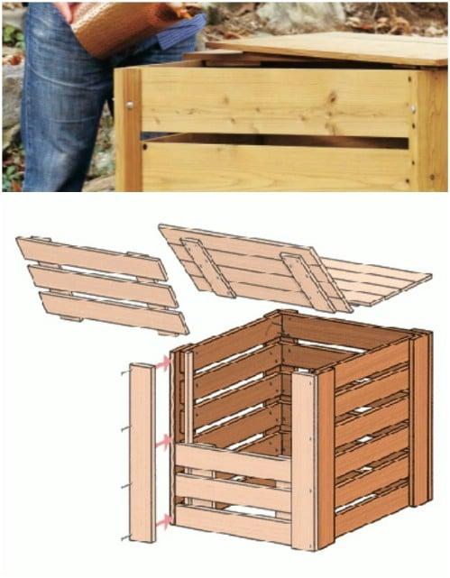 Easy Leftover Lumber Compost Bin