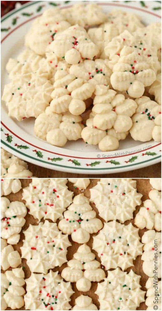 Easy Cookie Press Shortbread Cookies