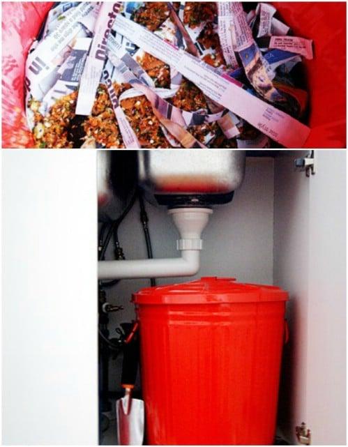 Odor Free Indoor Compost Bin