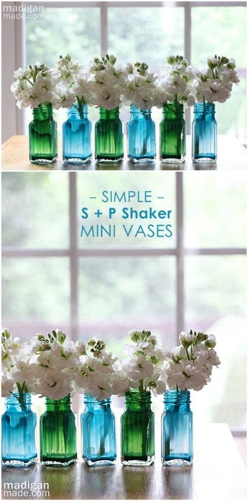 Painted Salt And Pepper Shaker Vases