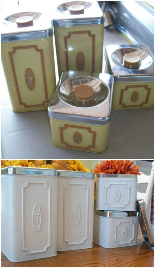 Kitchen Canister Makeover
