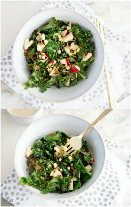 Warm Kale Winter Salad