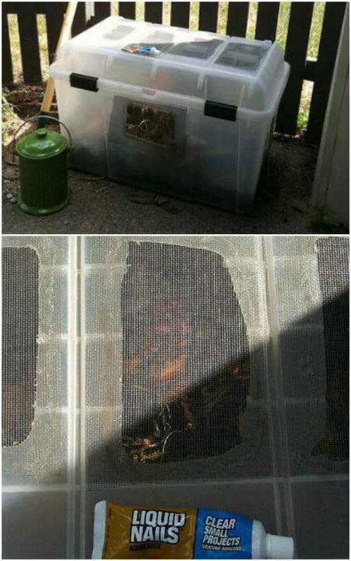 Simple DIY Porch Compost Bin