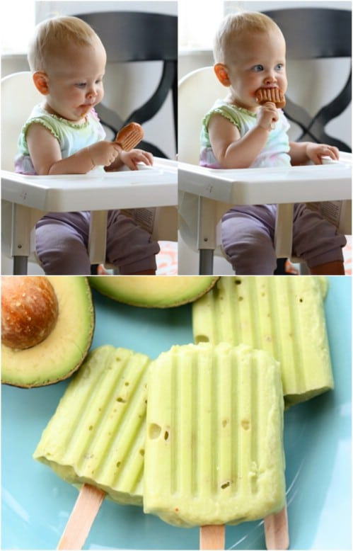 Homemade Avocado Baby Food Popsicles