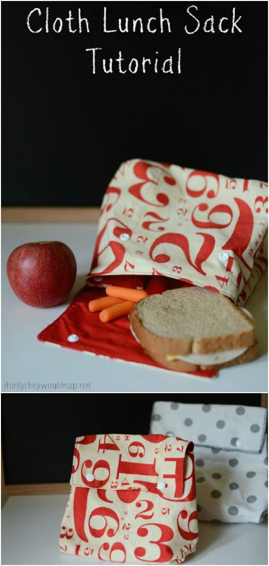 Easy To Sew Cloth Lunch Sack