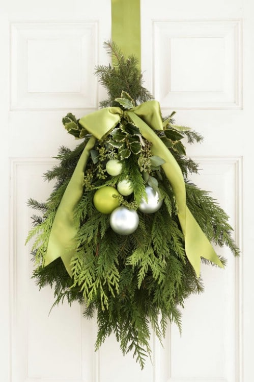 Fresh Evergreen Holiday Door Swag
