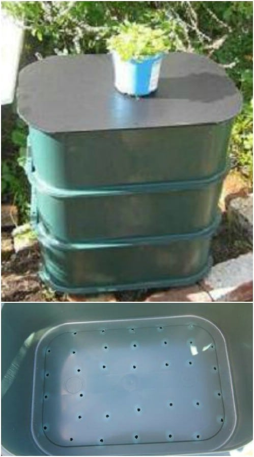 Three Tiered Worm Compost Bin