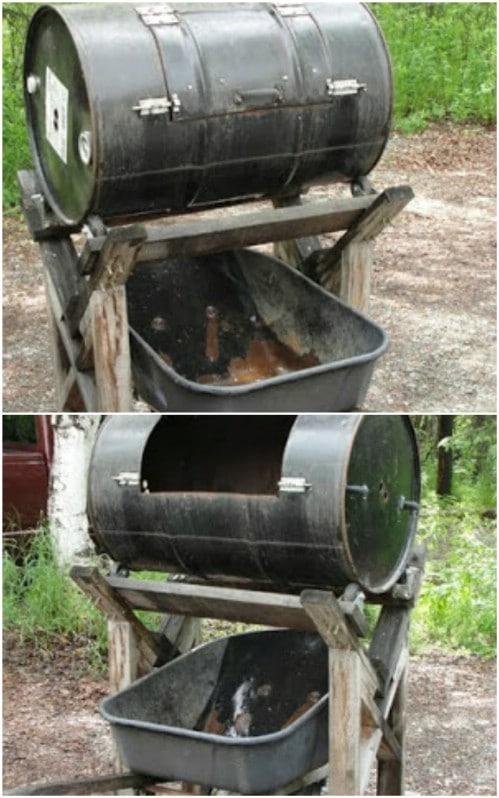 Upcycled Wheelbarrow Compost Bin