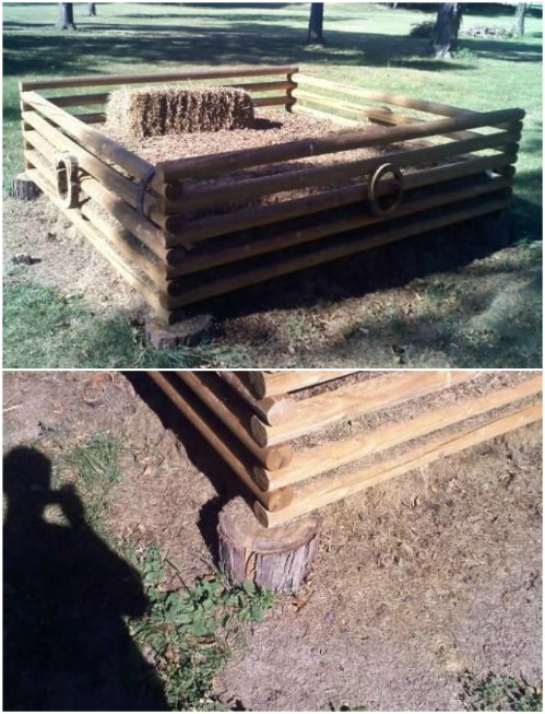 Upcycled Landscape Timber Compost Bin