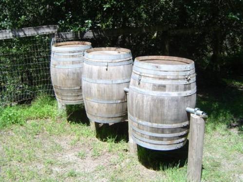 DIY wine Barrel Compost Station