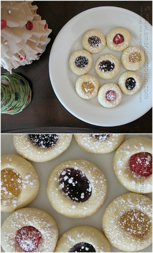 Easy Jelly Filled Christmas Thumbprint Cookies