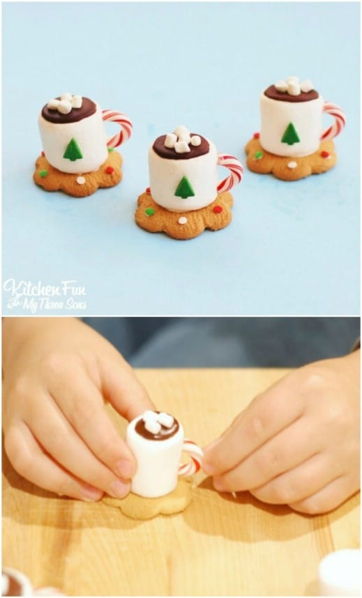 Adorable Hot Cocoa Christmas Cookies