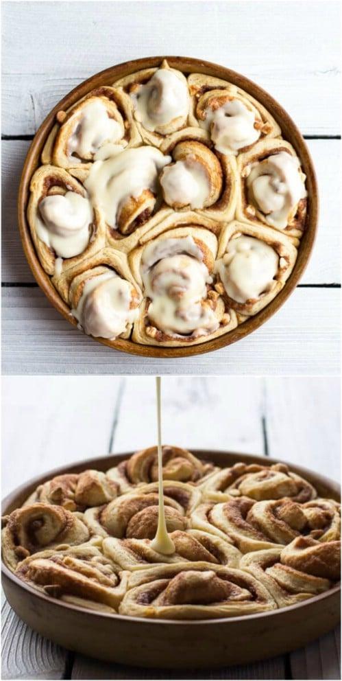 Yummy Eggnog Cinnamon Rolls