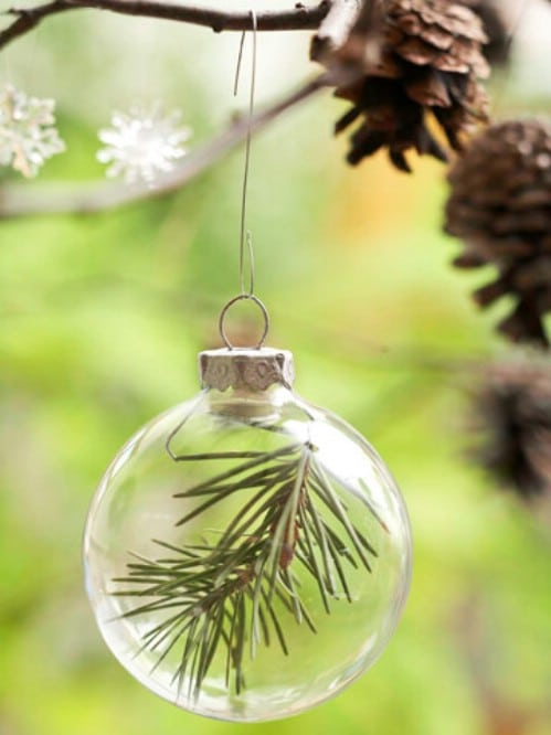 Easy DIY Holiday Evergreen Ornament