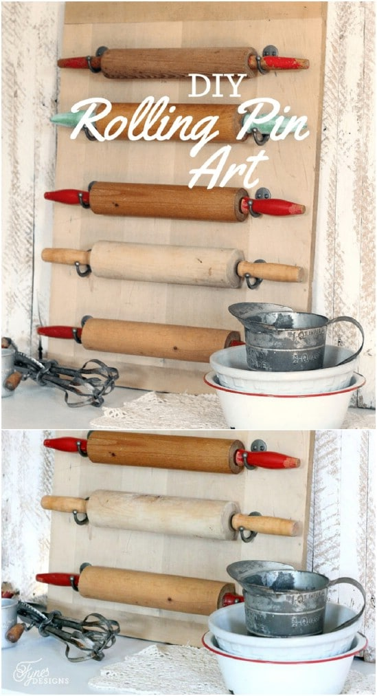 Hanging Rolling Pin Wall Art