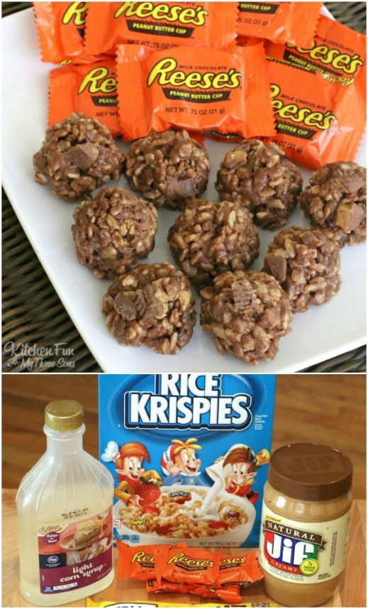 No Bake Reese's Krispies Cookies