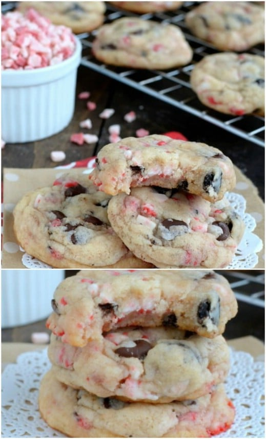Oreo Peppermint Crunch Christmas Cookies
