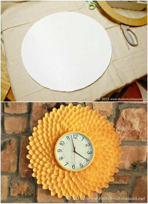 DIY Chrysanthemum Clock