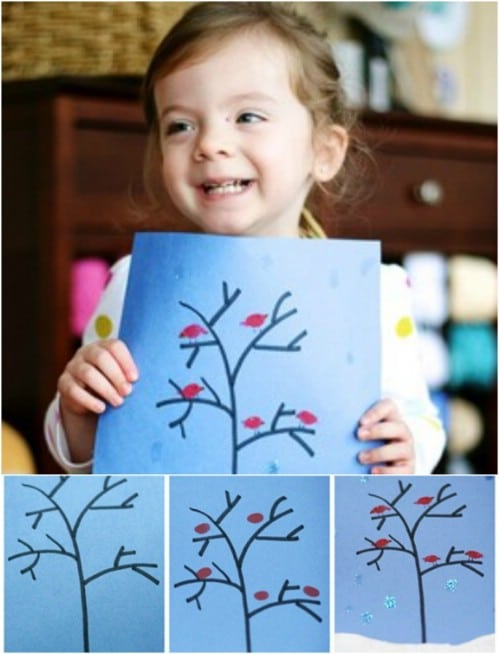 Easy Winter Collage For Preschoolers
