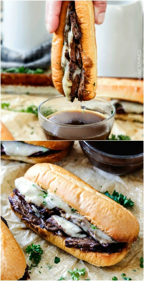 Tender French Dip Sandwiches