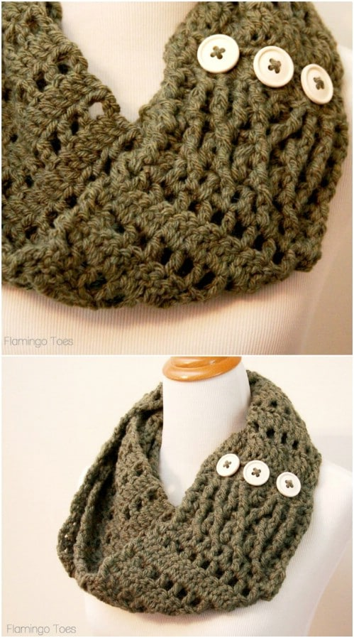 9244d0fb2f813 20 Easy DIY Scarves That Will Keep You Stylish And Warm This Winter ...