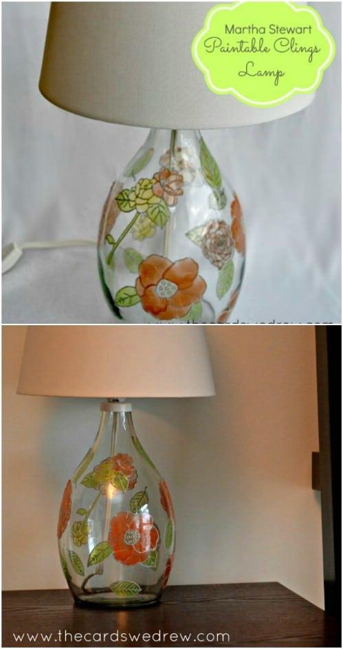 Easy DIY Glass Paint Lamp