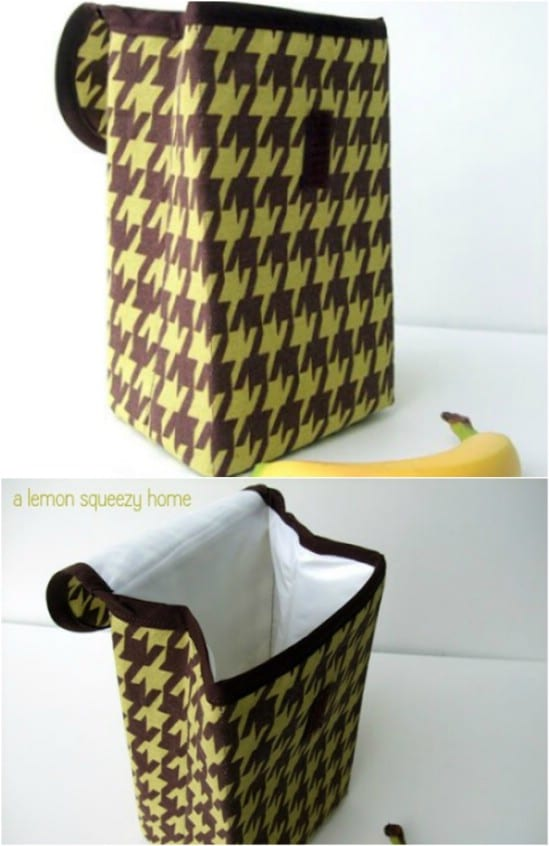 Sturdy DIY Vinyl Fold Over Lunch Bag