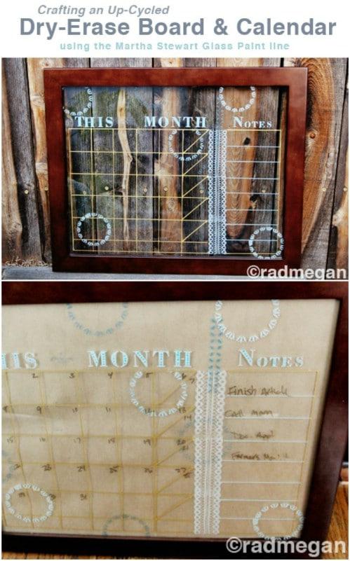 Dry Erase Board And Calendar