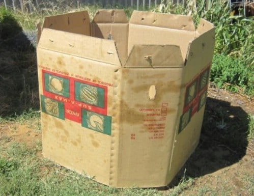 Upcycled Cardboard Box Compost Bin