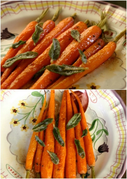 Brown Butter And Sage Carrots