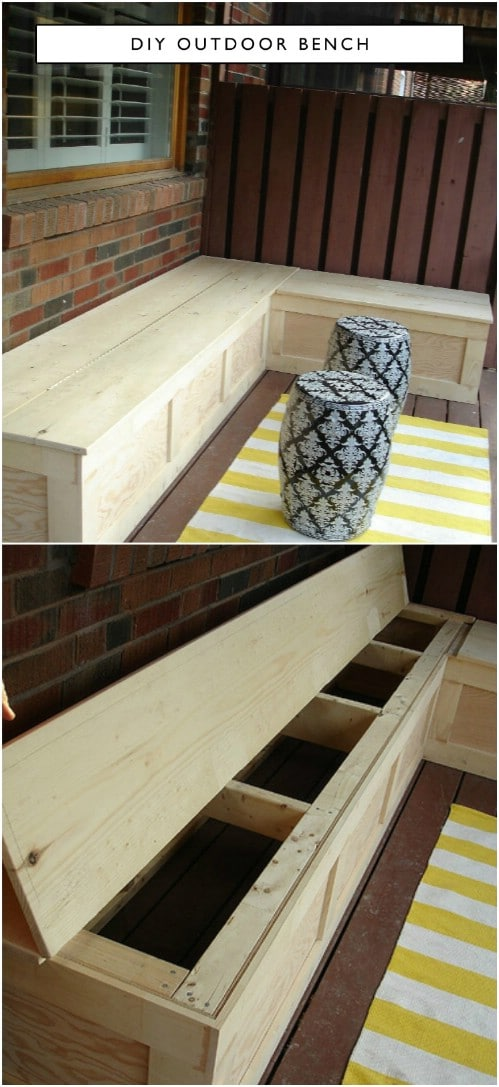 Easy Corner Storage Bench