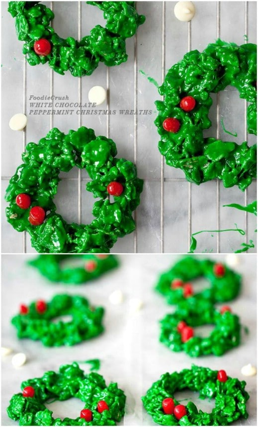 White Chocolate Peppermint Wreaths
