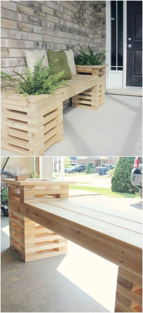 Easy DIY Planter Bench
