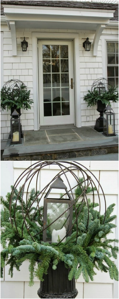 Traditionally Rustic Lantern Planter