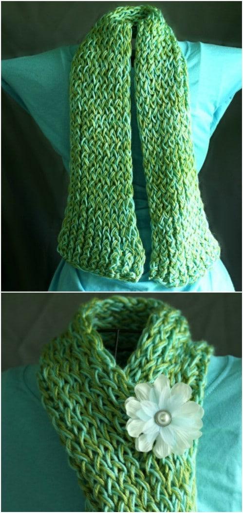Easy DIY Knitting Loom Scarf