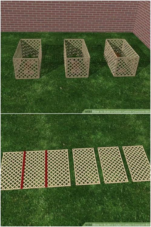 Easy DIY Cedar Lattice Compost Bin