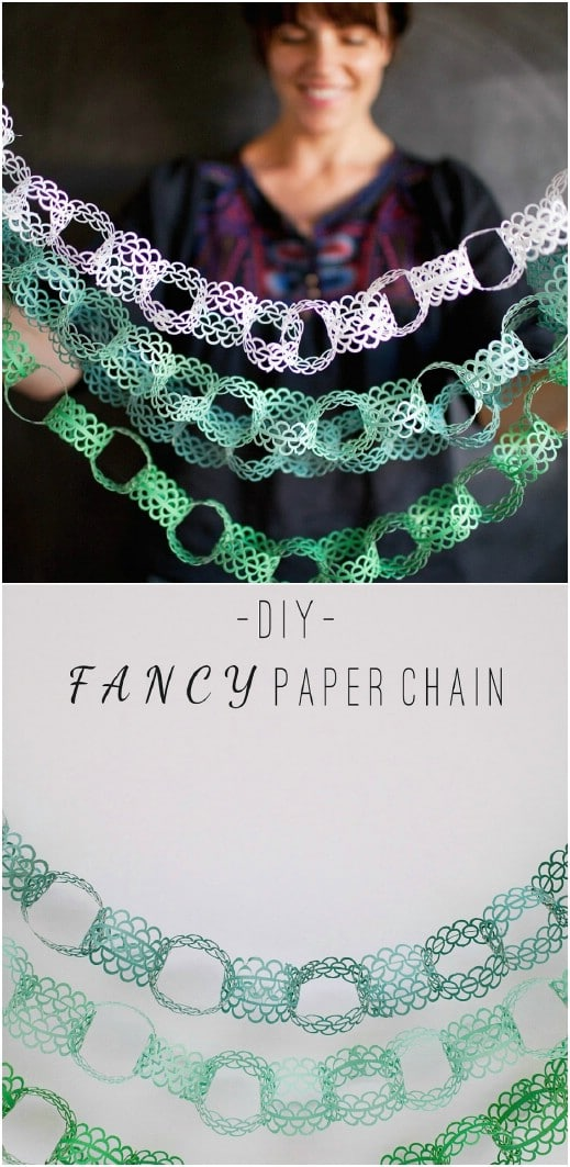 Faux Fabric Paper Chain Garland