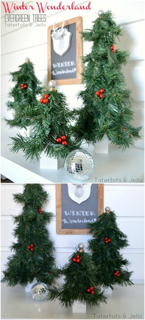 DIY Evergreen Christmas Trees