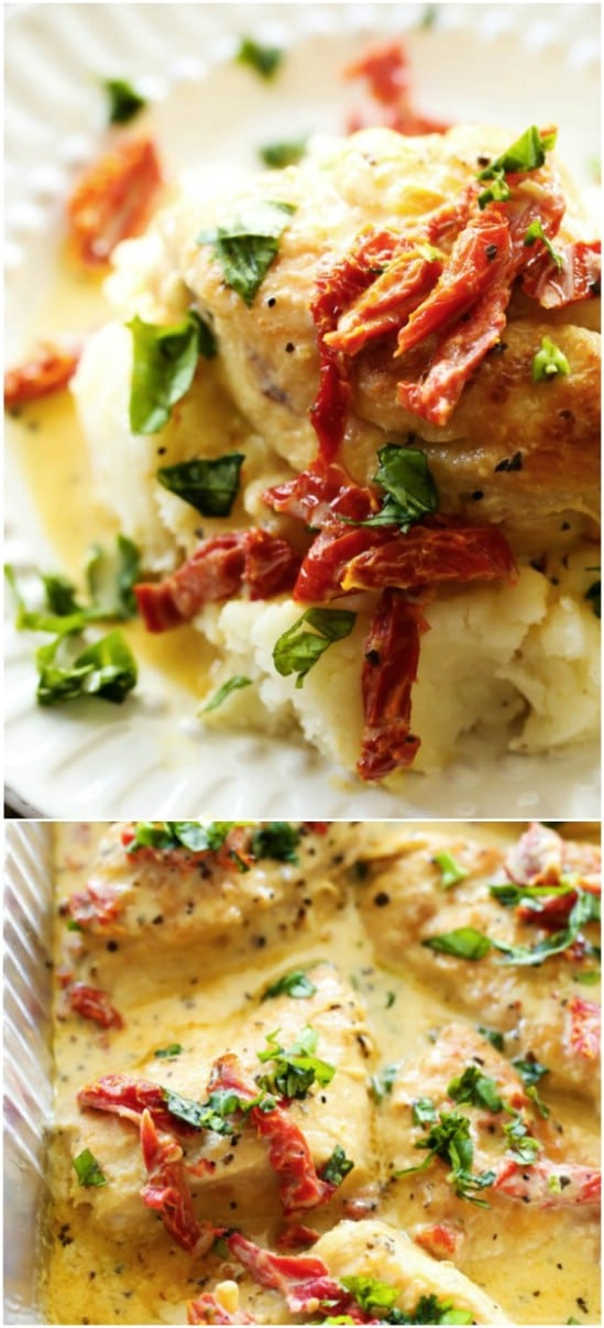 Creamy Sun Dried Tomato Chicken